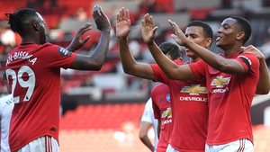 Anthony Martial celebrates his goal