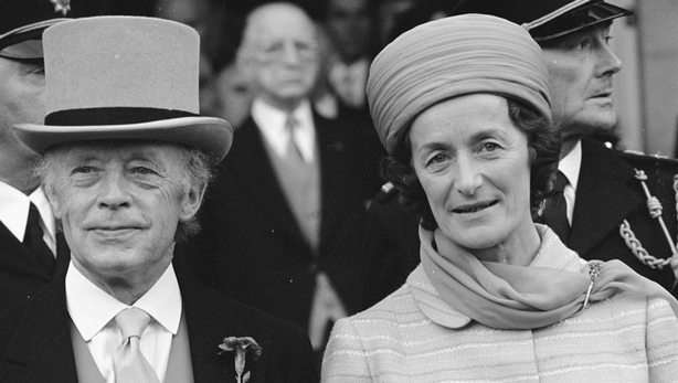 President Erskine Childers and his wife Rita (1973)