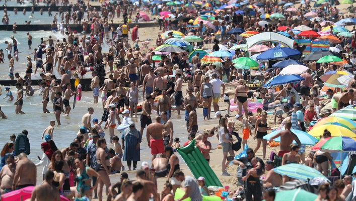 Bournemouth Beach Crowding on The Ryan Tubridy Show