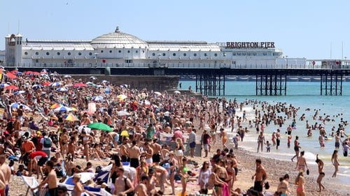 Thousands of people were at Brighton beach today