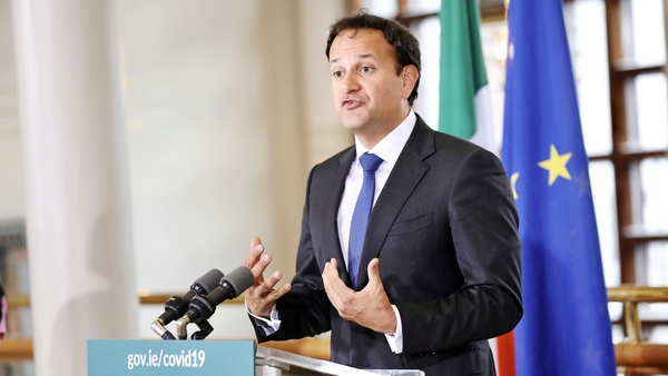 Leo Varadkar said some travel restrictions between Ireland and other countries will be eased from 9 July