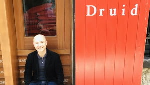 Playwright Peter Daly outside Druid Theatre