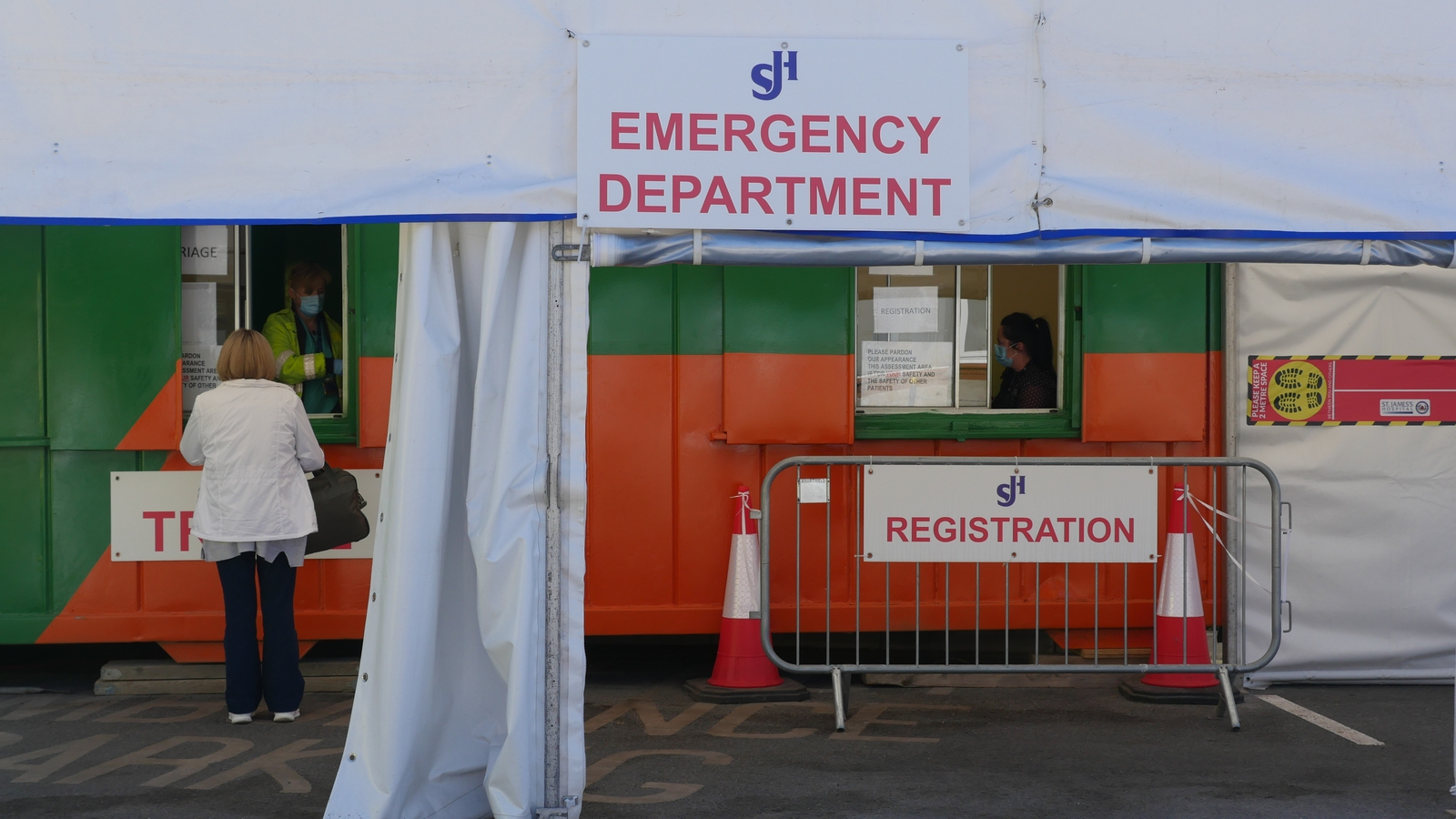 Image - A registration cabin set up in the St James's car park now filters patients before entering the ED