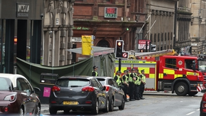 A large part of Glasgow city centre has been cordoned off
