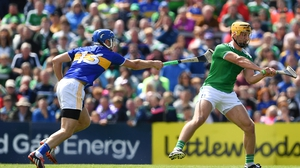 Limerick's Tom Morrissey is tackled by John McGrath of Tipperary during last year's Munster SHC final