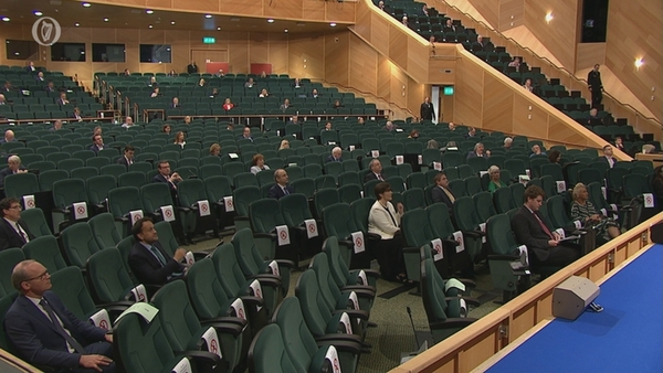 Dublin's Convention Centre has been holding Dáil sessions as Leinster was deemed unsuitable due to Covid-19 restrictions