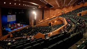 Due to Covid-19 social distancing rules, the Dáil sat at Dublin's Convention Centre instead of Leinster House