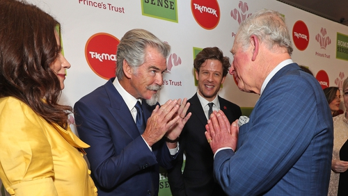 Pierce Brosnan meeting Prince Charles days before the British royal was diagnosed with Covid-19