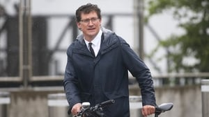 Green Party leader Eamon Ryan arriving at the Convention Centre. A majority of support from his party was instrumental in bringing the new Government to power (Pic: RollingNews.ie)