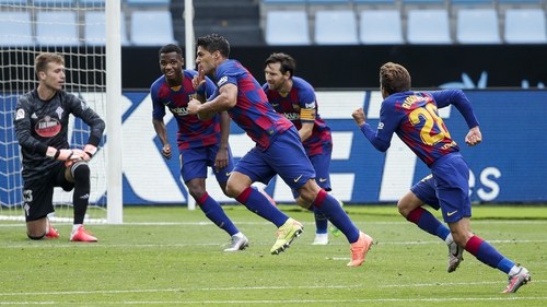 Two goals from Luis Suarez weren't enough for Barcelona