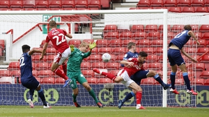 Nottingham Forest's Ryan Yates scores against Huddersfield in the Sky Bet Championship clash