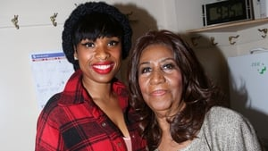 Jennifer Hudson and Aretha Franklin at the musical The Color Purple in New York in December 2015