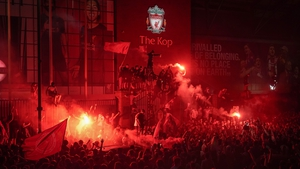 Jurgen Klopp has urged Liverpool fans to celebrate 'in a safe way' after thousands gathered on the city's waterfront on Friday night
