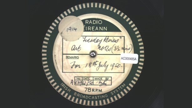 Acetate Disc Collection, 12 July 1950 QAC000485A