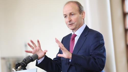 An Taoiseach Micheál Martin at the post-Cabinet press briefing in Dublin Castle