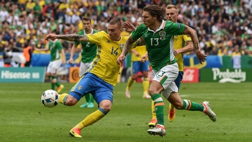 Jeff Hendrick had arguably his greatest day in Green when starred against Sweden at Euro 2016