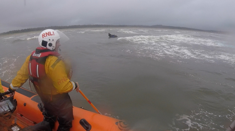 The horse found itself stranded around 1.5km from the shore