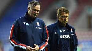 Dejection was etched on the faces of Michael O'Neill and assistant Billy McKinlay as they returned to the dressing room at full-time