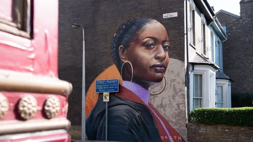 The mural takes pride of place on the side wall of the Beales' house on Bridge Street, opposite the Queen Vic