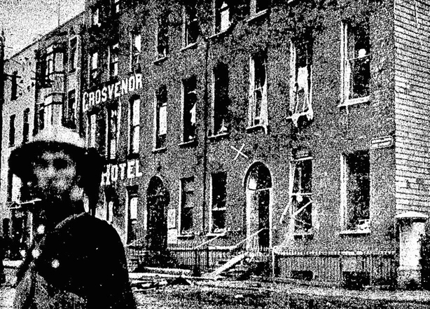 King Street in Cork City, the site of a recent attack on a police barracks Photo: Cork Examiner, 1 July 1920