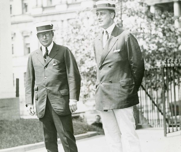 James Cox (left) and his running mate Franklin D. Roosevelt, July 1920 Photo: Library of Congress Prints and Photographs Division Washington, D.C. 20540 USA