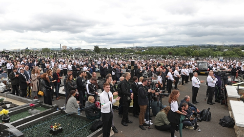 24 Sinn Féin elected representatives were informed on Tuesday that they would not face action for attending the funeral