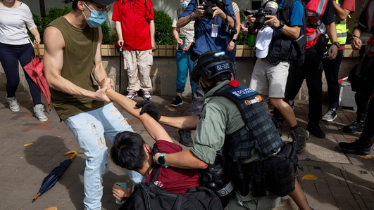 Clashes in Hong Kong following China's new security law