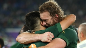 RG Snyman (r)  and Damien de Allende helped South Africa to win the World Cup