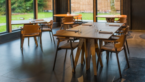 Lignum's newly spaced out dining room. Photo: Lignam
