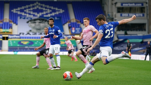 Seamus Coleman played the full game for the hosts