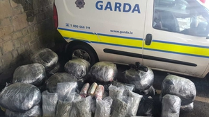 The cannabis was found in a vehicle in the Raheen area today