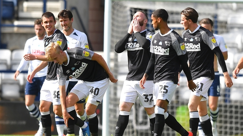 Wayne Rooney was on the mark for Derby against Preston North End to secure the Rams' fifth successive victory