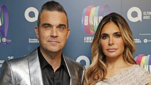 Robbie Williams and Ayda Field were working with UNICEF in Haiti