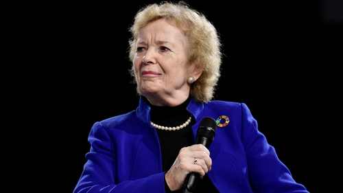 Mary Robinson will lead the panel investigating Akinwumi Adesina
