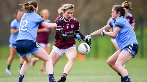 Tracey Leonard in action against Dublin in this year's National football League