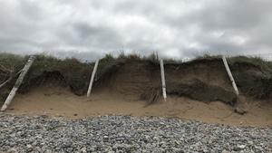 Coastal erosion at Pollan Strand in Ballyliffin