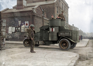 War of Independence in colour: Armoured car with daring graffiti