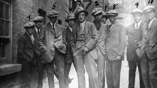 "A photo that claimed to be of the ""Cairo gang"" of British agents"