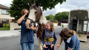 Aoibhinn Breslin with Buddy the equine therapy horse