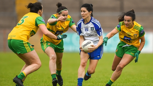 Therese Scott in action against Donegal