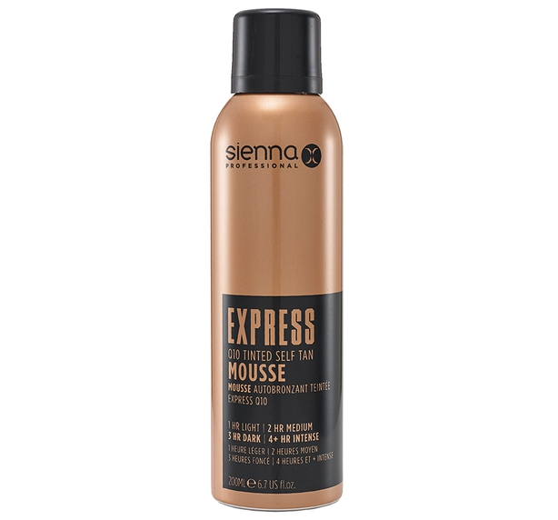 Sienna X Express Q10 Tinted Self Tan Mousse