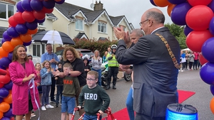 Oliver Lynch was cheered by neighbours, family friends and the Lord Mayor of Cork as he crossed the finish line