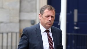 Barry Cowen arriving for a cabinet meeting with the new Government at Dublin Castle Pic: RollingNews.ie