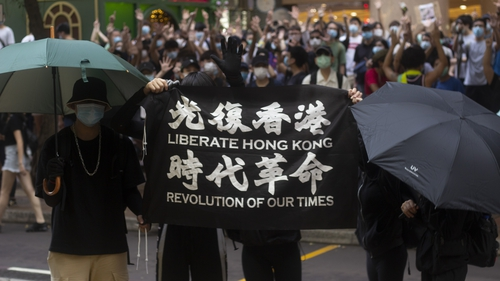 Hong Kong's government said the protest slogan 'Liberate Hong Kong, revolution of our times' implies subversion under the new law