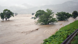 Roads have been cut off by floods and landslides