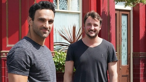 Davood Ghadami Kush Kazemi) and James Bye (Martin Fowler) from EastEnders
