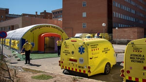 A field hospital has been set up in Lerida