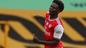 Arsenal's Bukayo Saka broke the deadlock