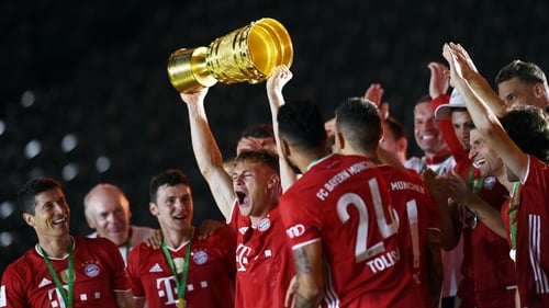 Bayern Munich completed the League and Cup double