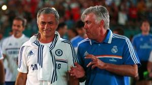 Jose Mourinho with Carlo Ancelotti back in 2013